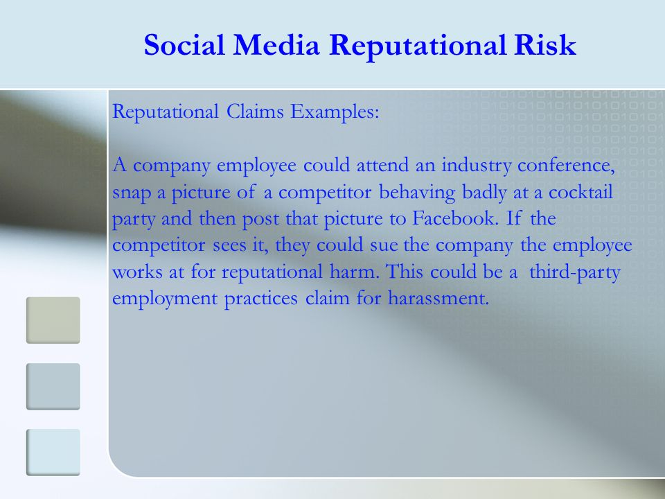 Social Media Reputational Risk