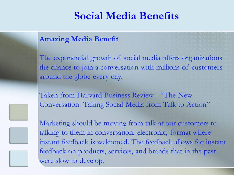 Social Media Benefits Amazing Media Benefit