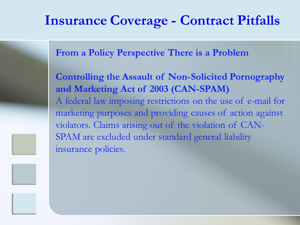 Insurance Coverage - Contract Pitfalls