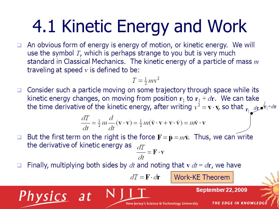 Physics 430 Lecture 7 Kinetic And Potential Energy Ppt Download