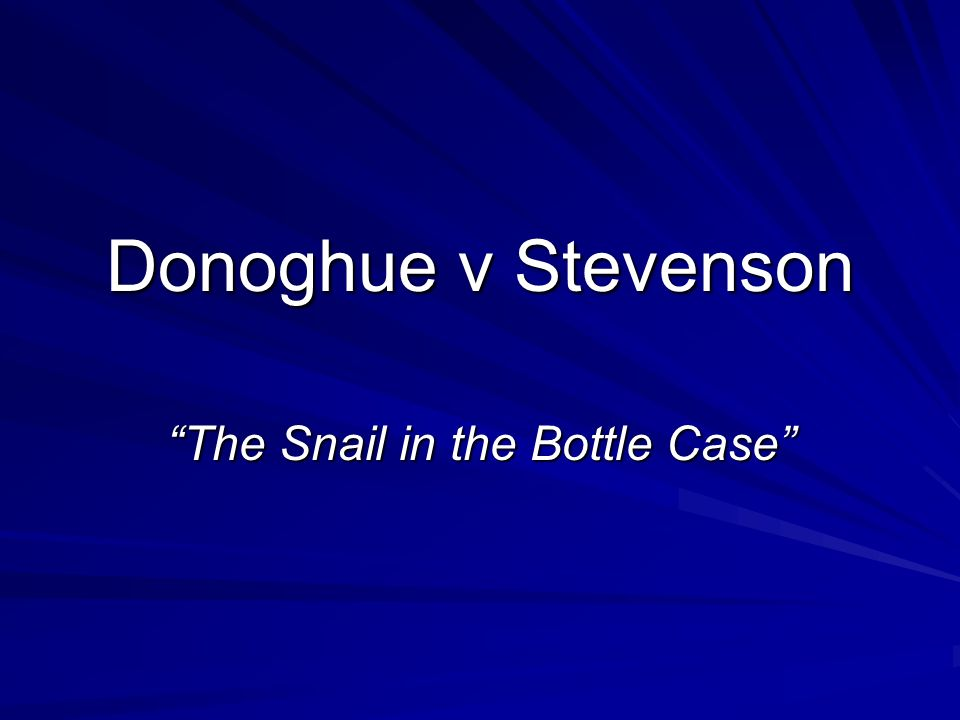 The Snail in the Bottle Case