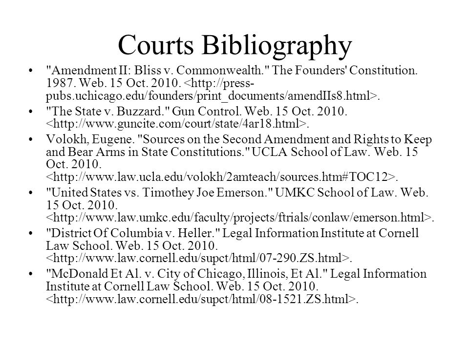 Courts Bibliography