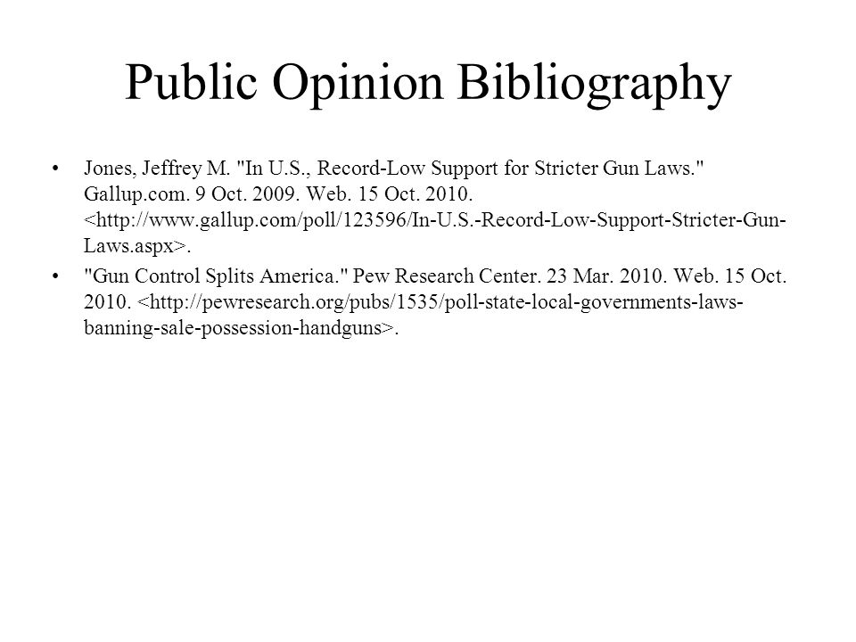 Public Opinion Bibliography