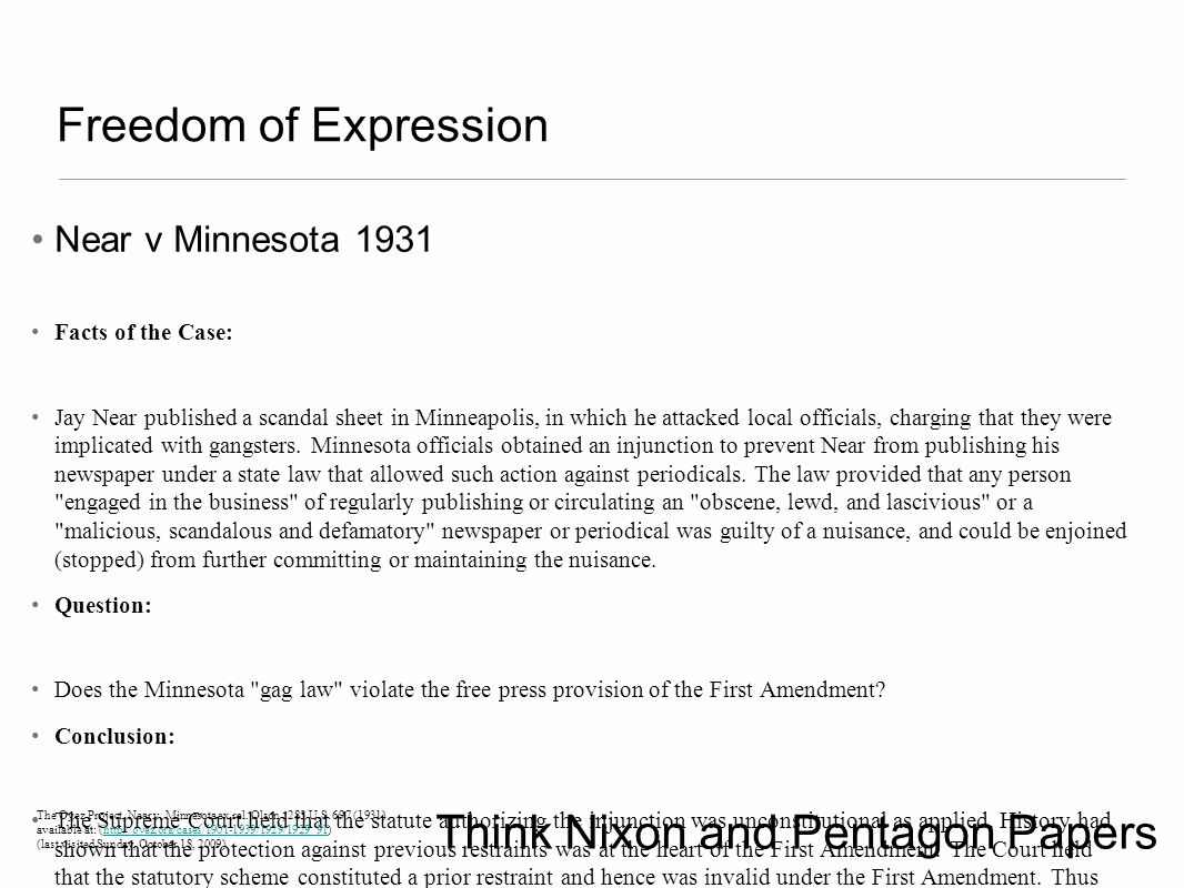 Think Nixon and Pentagon Papers