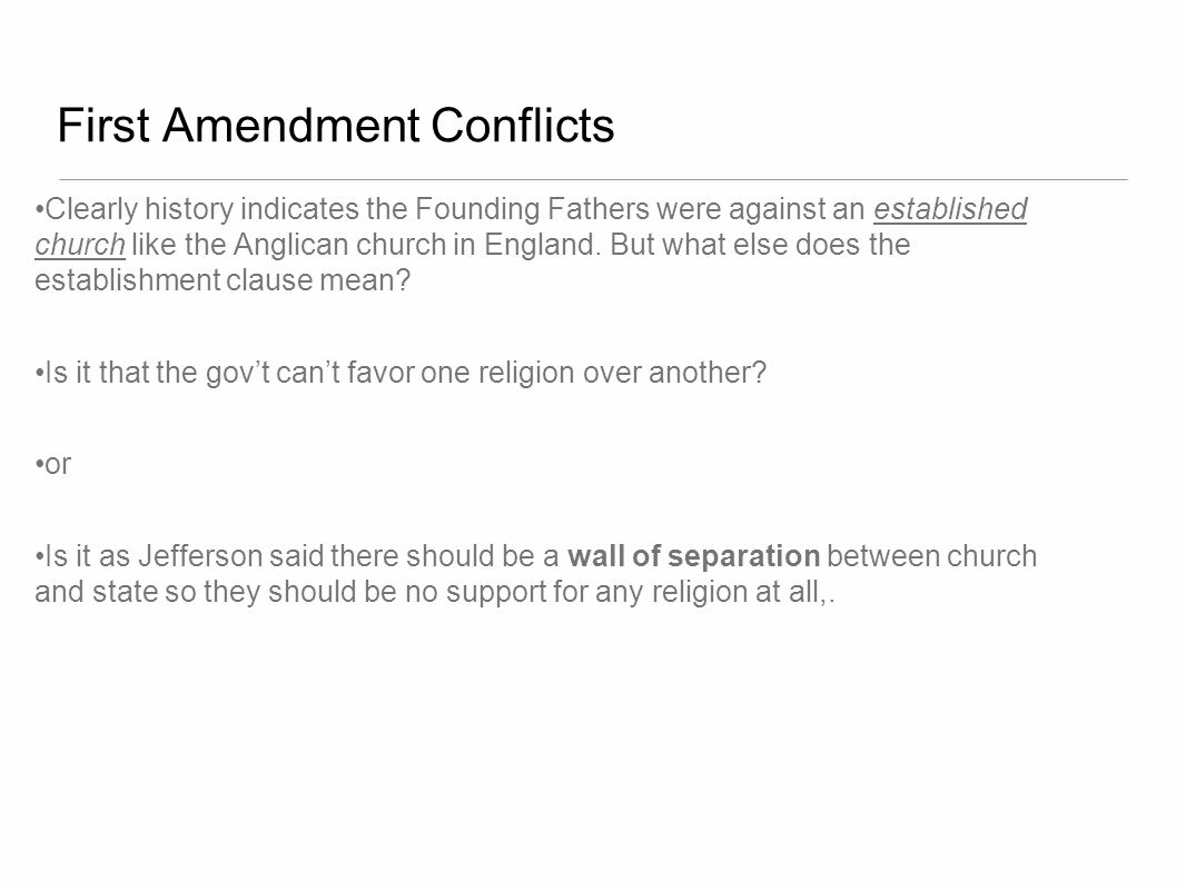 First Amendment Conflicts