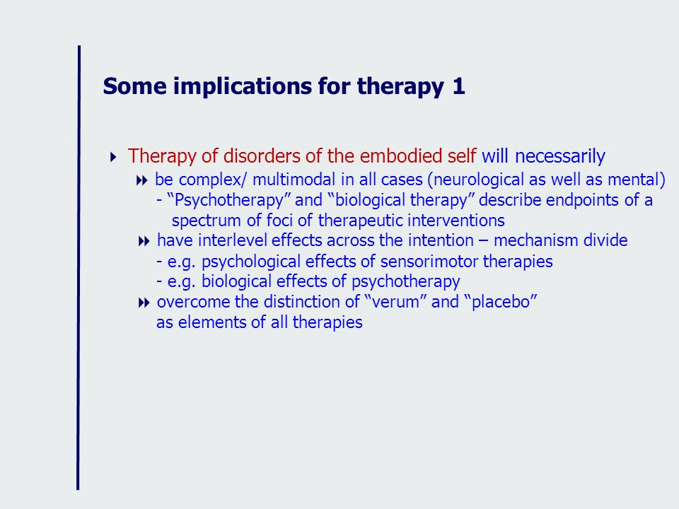 Some implications for therapy 1