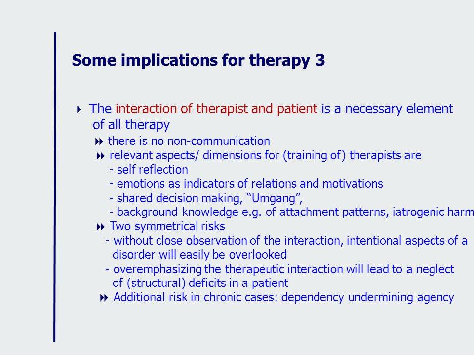 Some implications for therapy 3