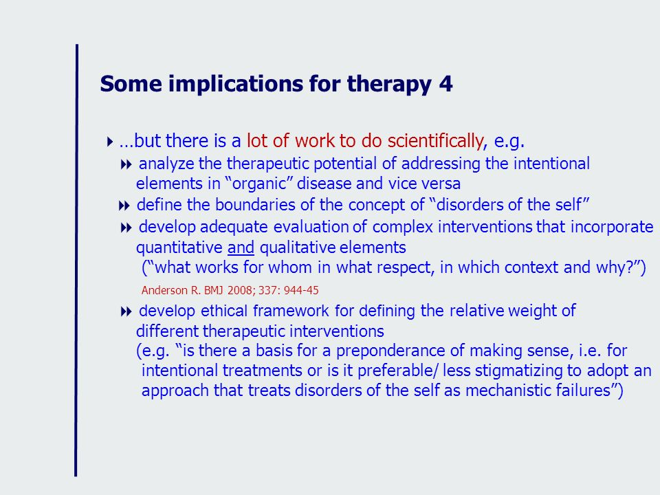 Some implications for therapy 4