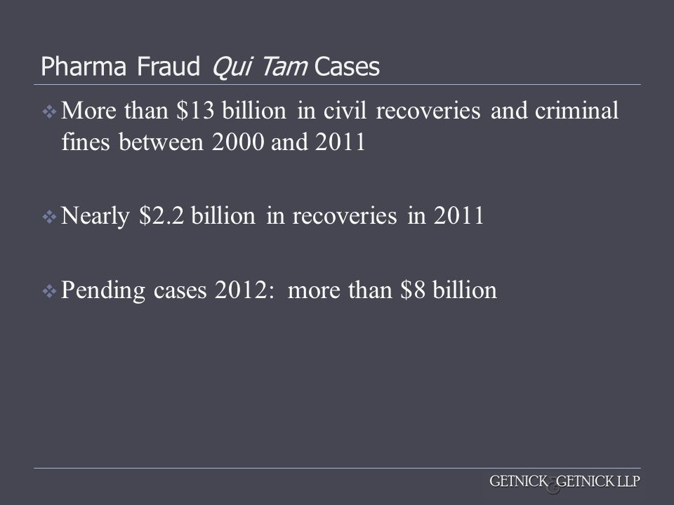 Pharma Fraud Qui Tam Cases