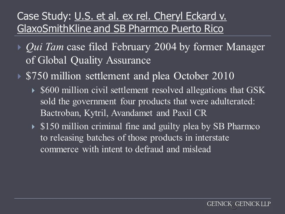 $750 million settlement and plea October 2010