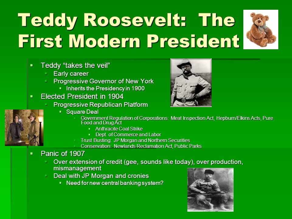 Teddy Roosevelt: The First Modern President