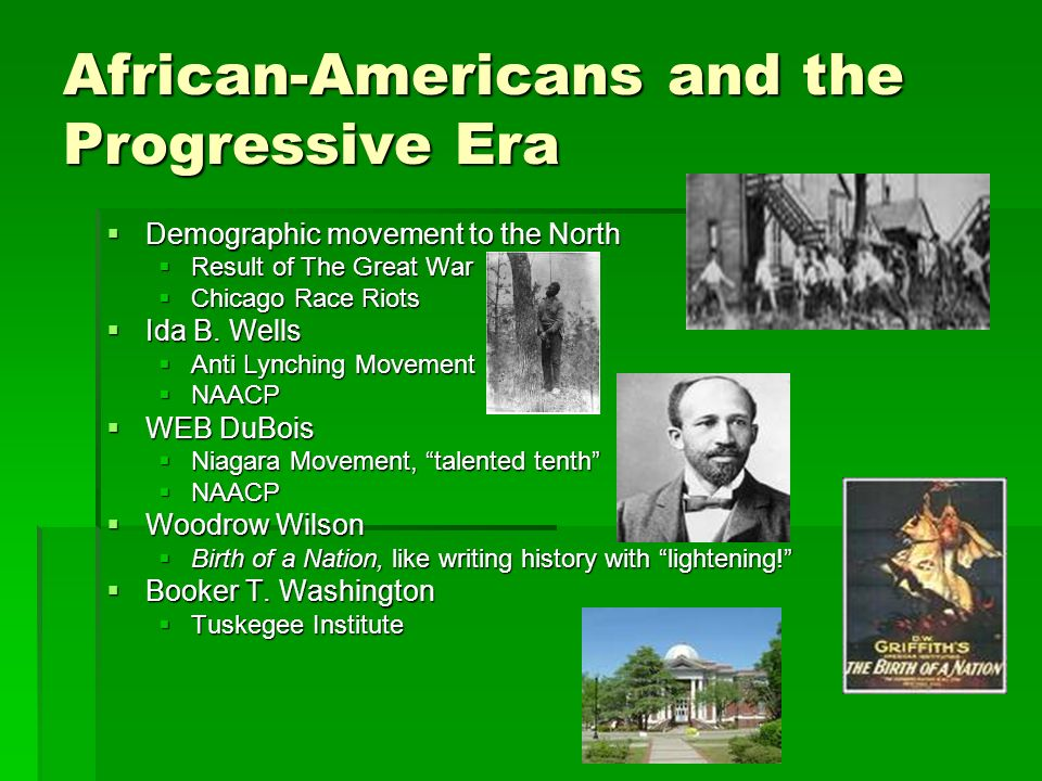 African-Americans and the Progressive Era