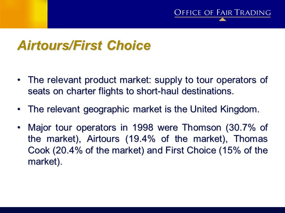 Airtours/First Choice