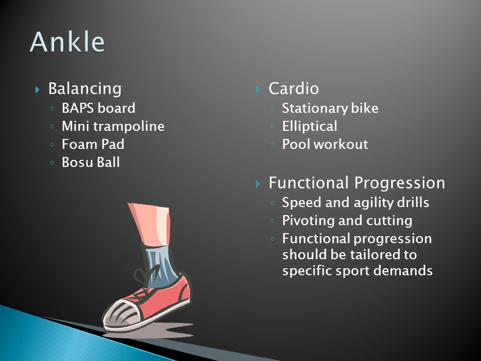 Ankle Balancing Cardio Functional Progression BAPS board