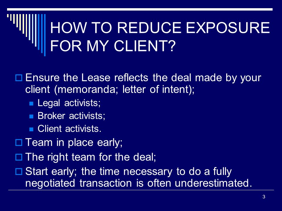 HOW TO REDUCE EXPOSURE FOR MY CLIENT