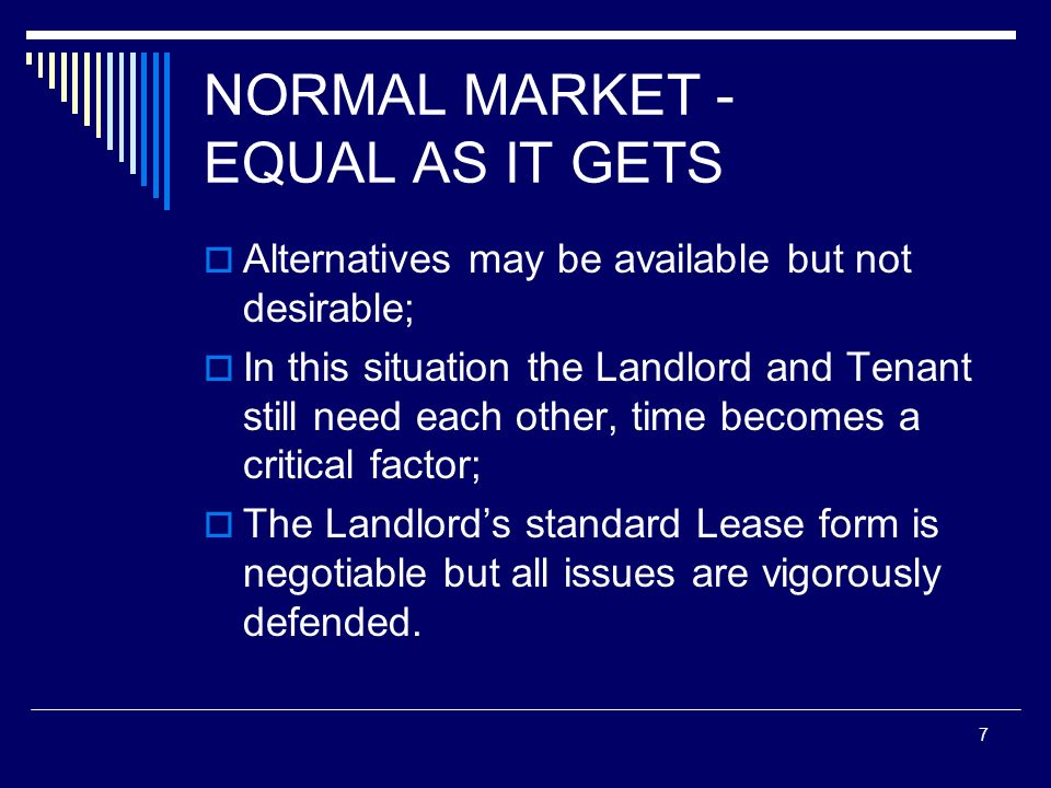 NORMAL MARKET - EQUAL AS IT GETS
