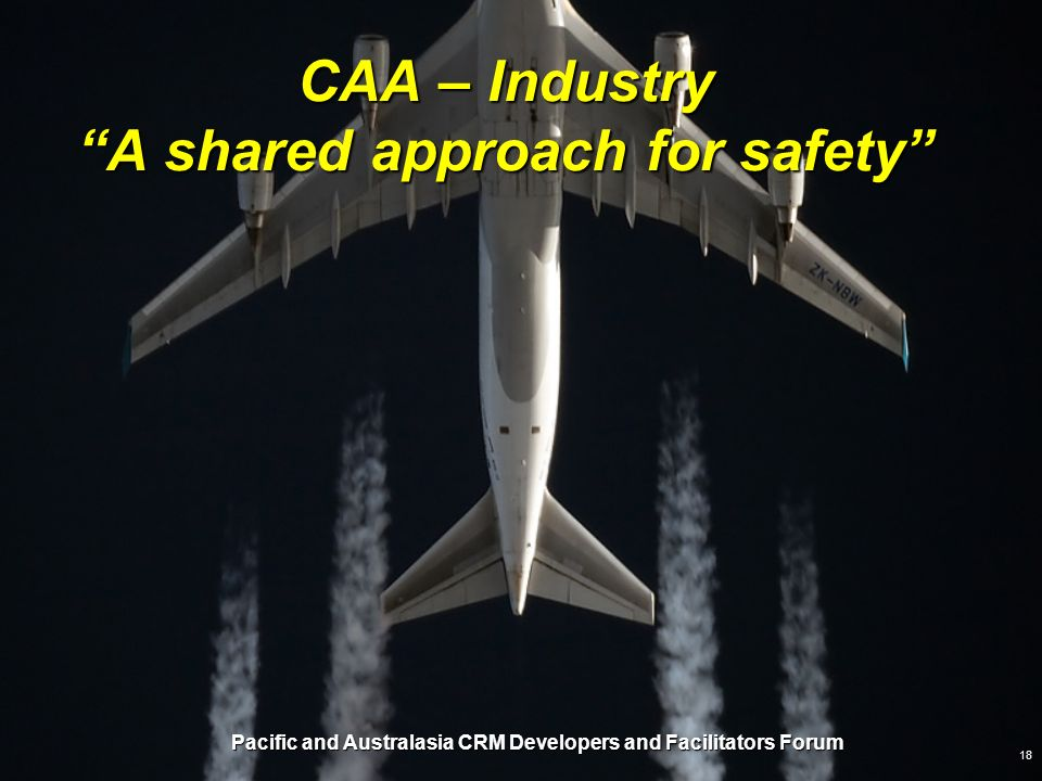 CAA – Industry A shared approach for safety