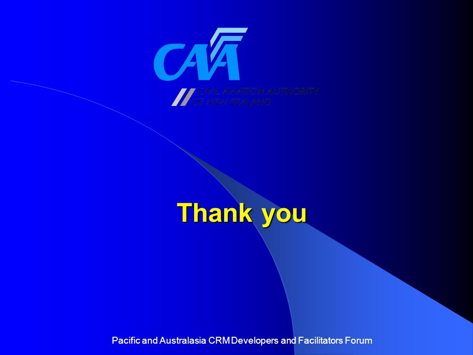Pacific and Australasia CRM Developers and Facilitators Forum