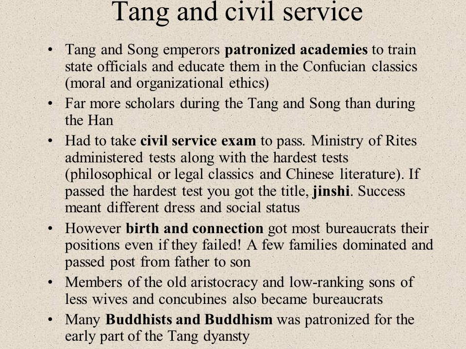 Tang and civil service