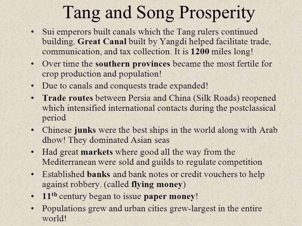 Tang and Song Prosperity