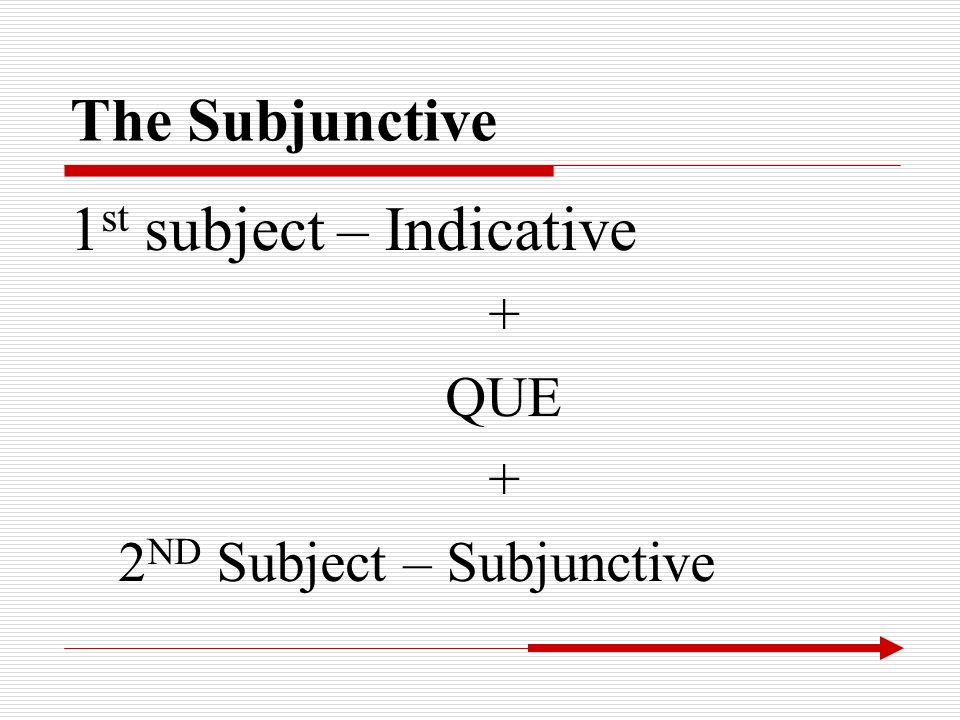 1st subject – Indicative