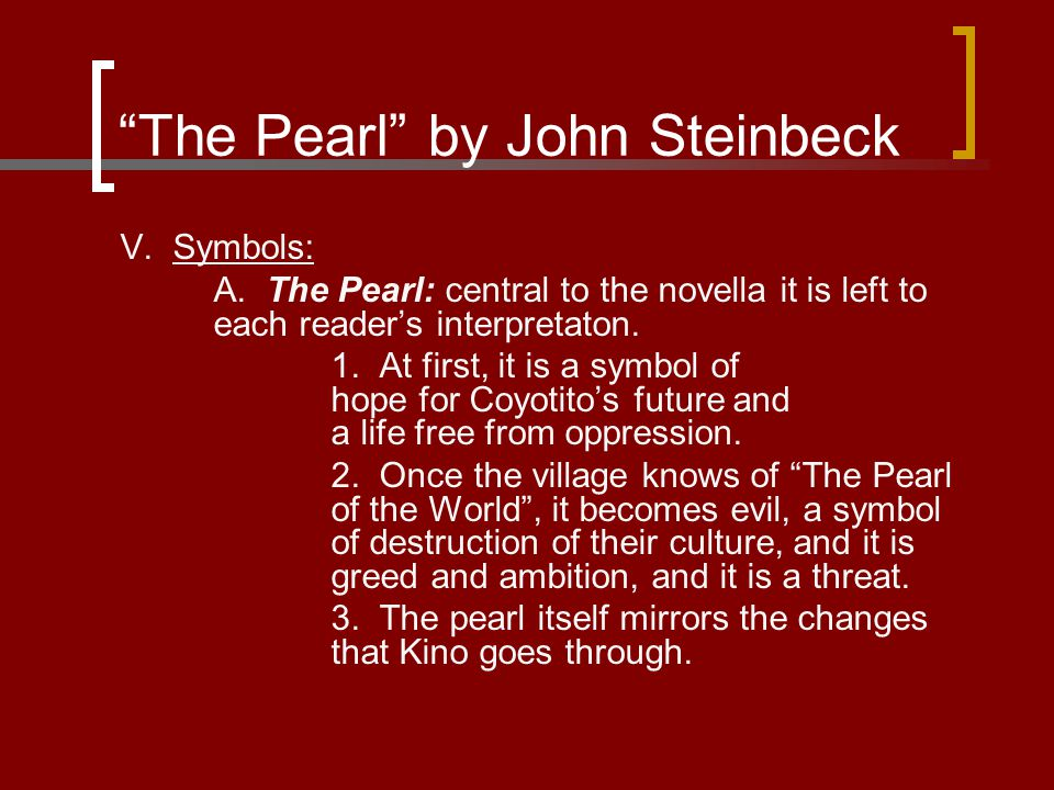 The Pearl By John Steinbeck Ppt Video Online Download