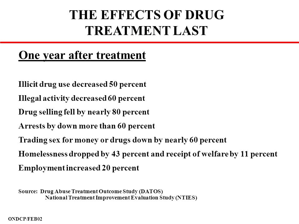THE EFFECTS OF DRUG TREATMENT LAST