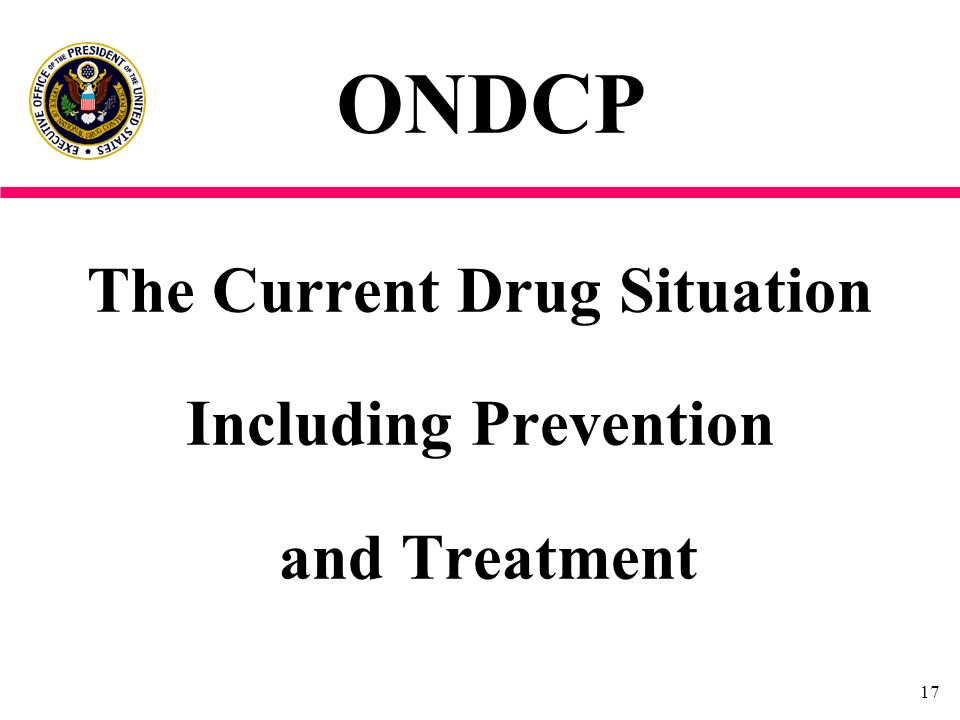 The Current Drug Situation Including Prevention and Treatment