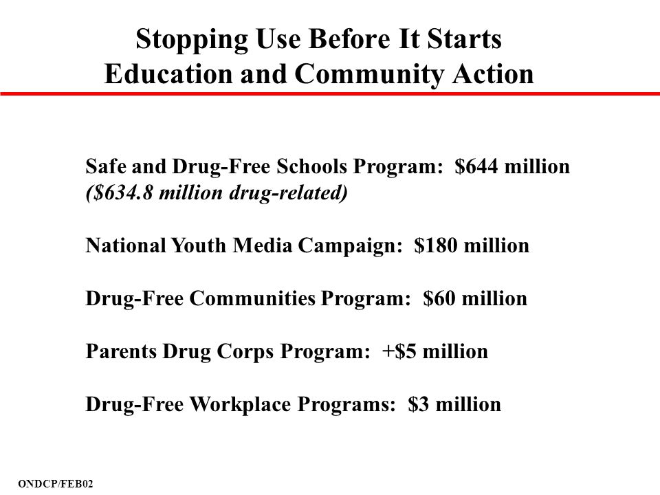 Stopping Use Before It Starts Education and Community Action