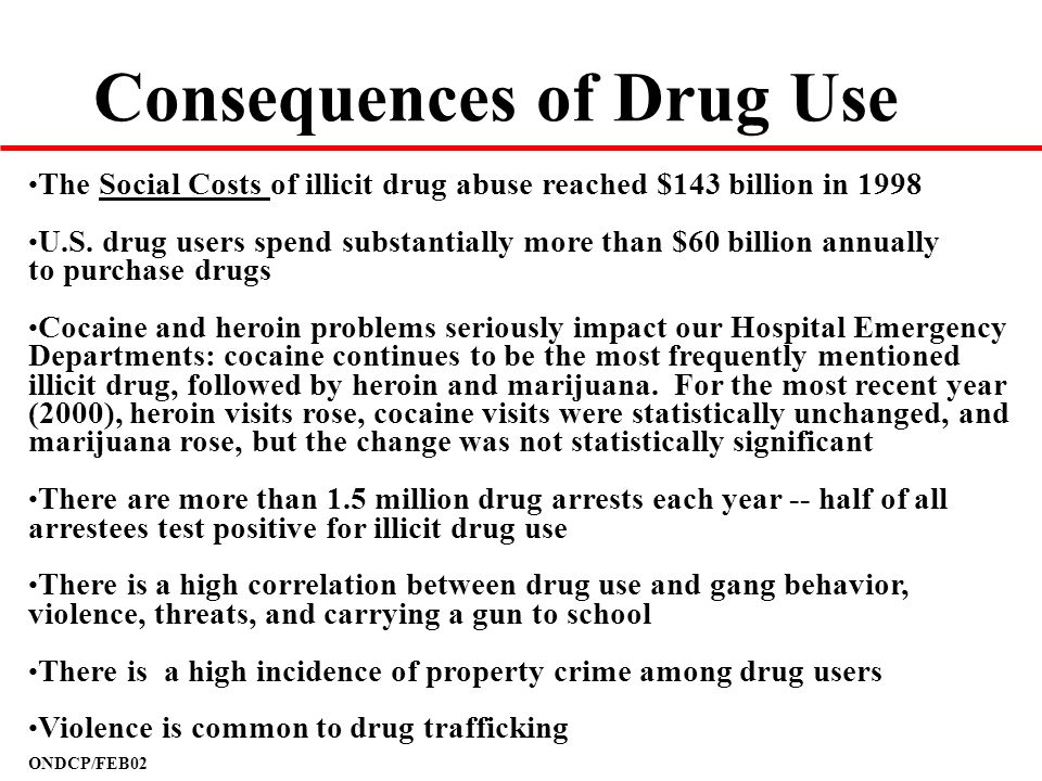 Consequences of Drug Use