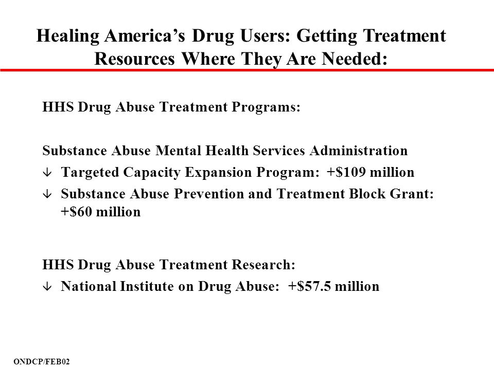 Healing America's Drug Users: Getting Treatment Resources Where They Are Needed: