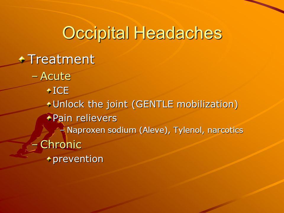 Occipital Headaches Treatment Acute Chronic ICE