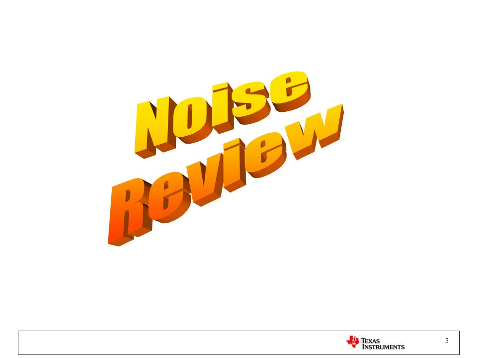 Noise Review