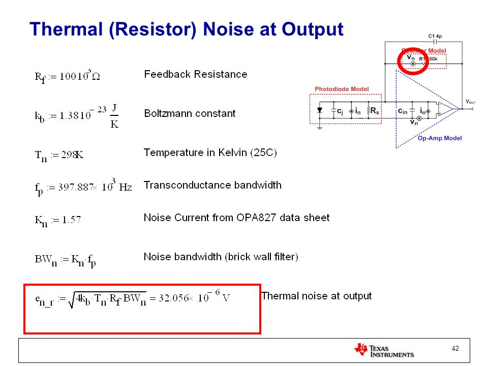 Thermal (Resistor) Noise at Output