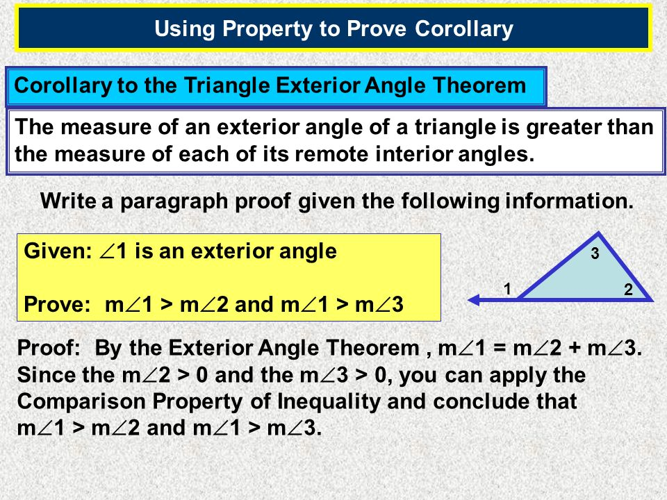 Using Property to Prove Corollary