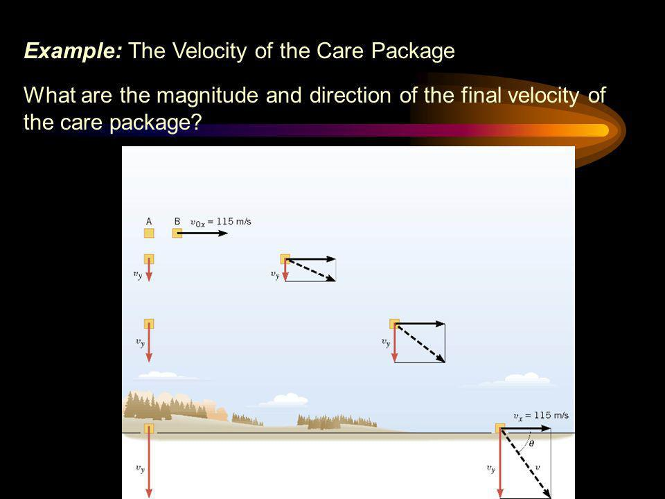 Example: The Velocity of the Care Package
