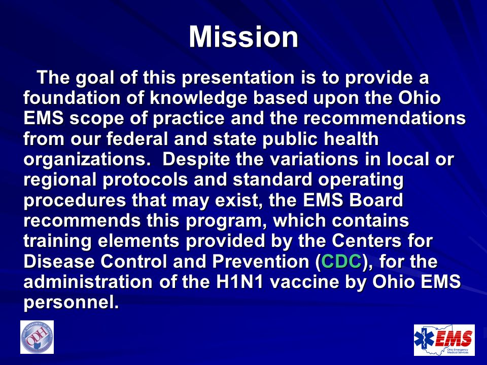 H1n1 Vaccinations By Ohio Ems Personnel Ppt Download