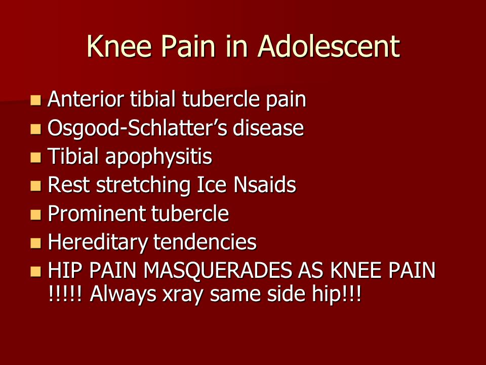 Knee Pain in Adolescent