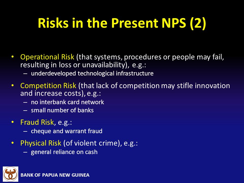 Risks in the Present NPS (2)