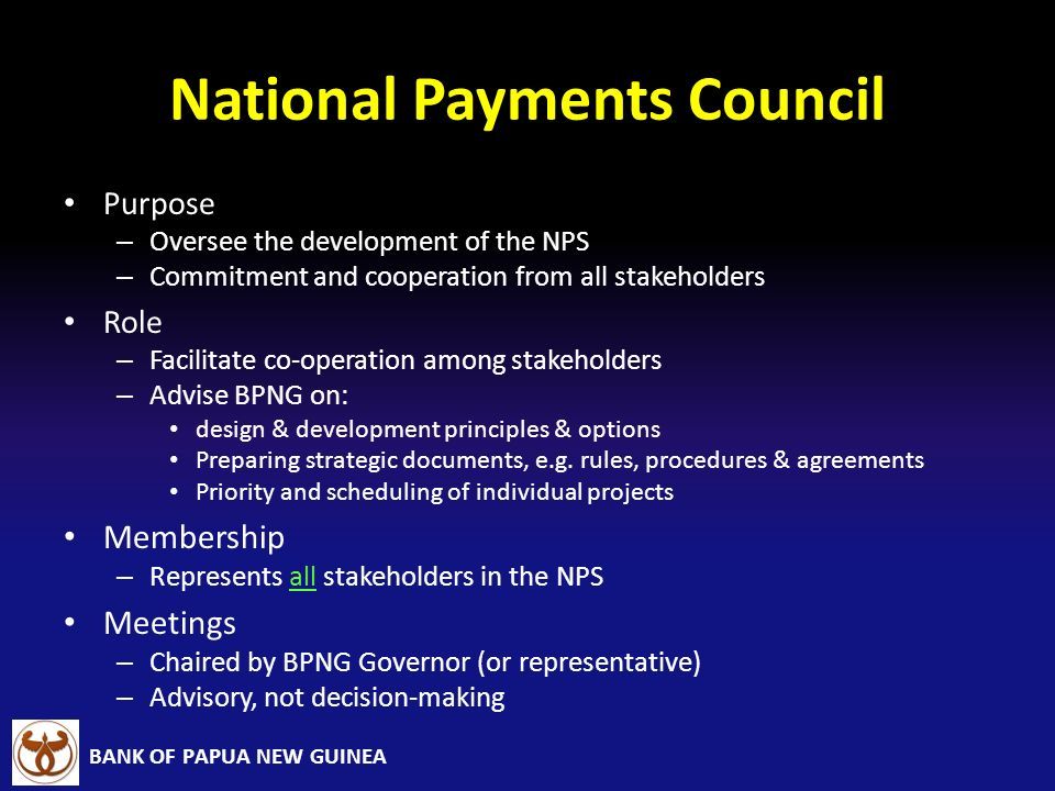 National Payments Council