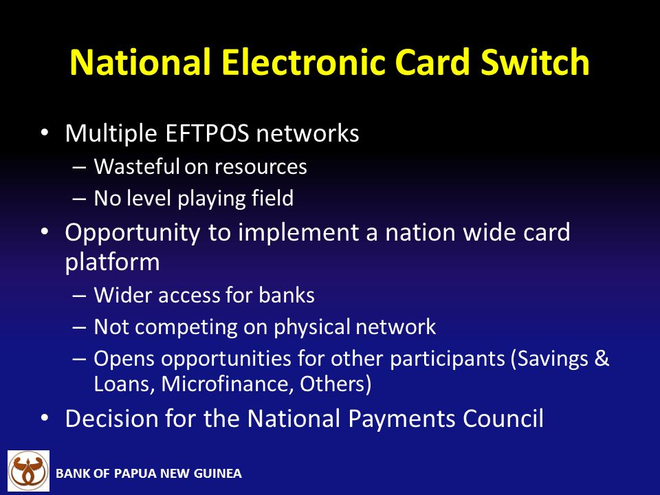National Electronic Card Switch