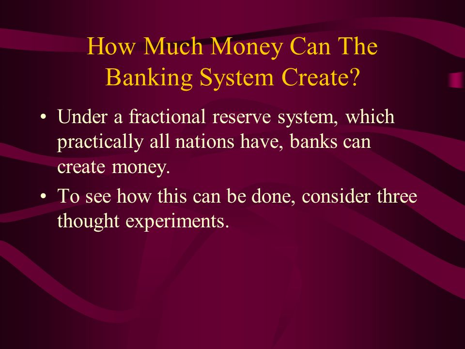 How Much Money Can The Banking System Create