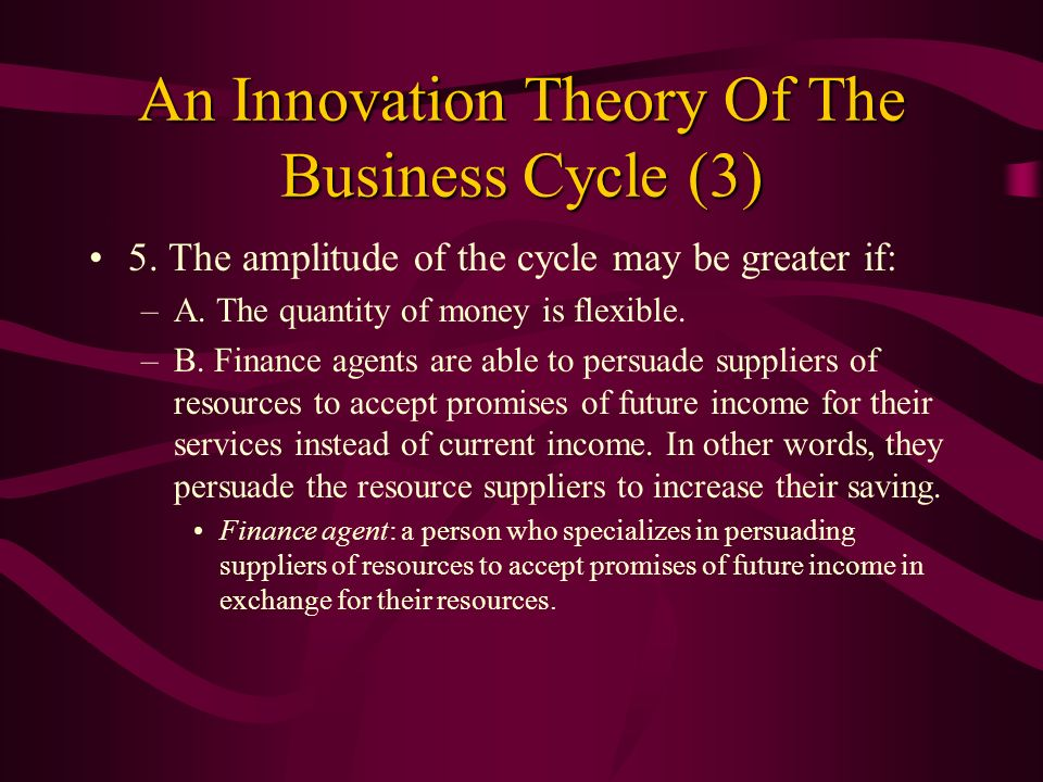 An Innovation Theory Of The Business Cycle (3)