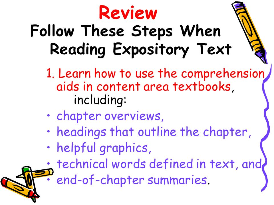 Follow These Steps When Reading Expository Text
