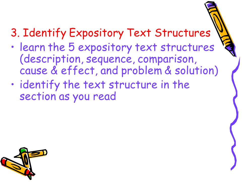 3. Identify Expository Text Structures