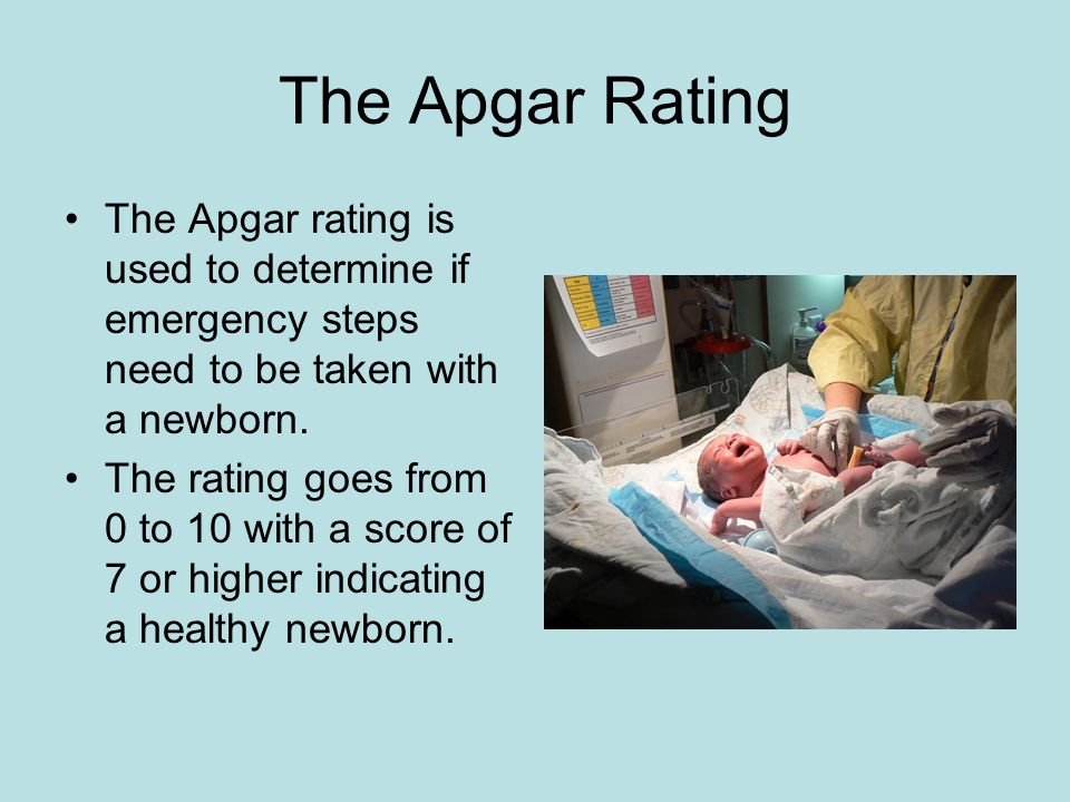 The Apgar Rating The Apgar rating is used to determine if emergency steps need to be taken with a newborn.