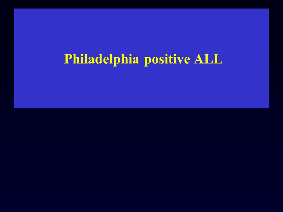 Philadelphia positive ALL