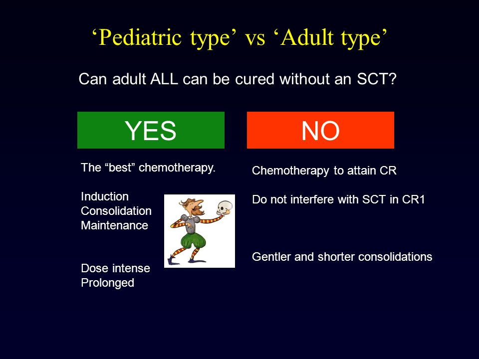'Pediatric type' vs 'Adult type'