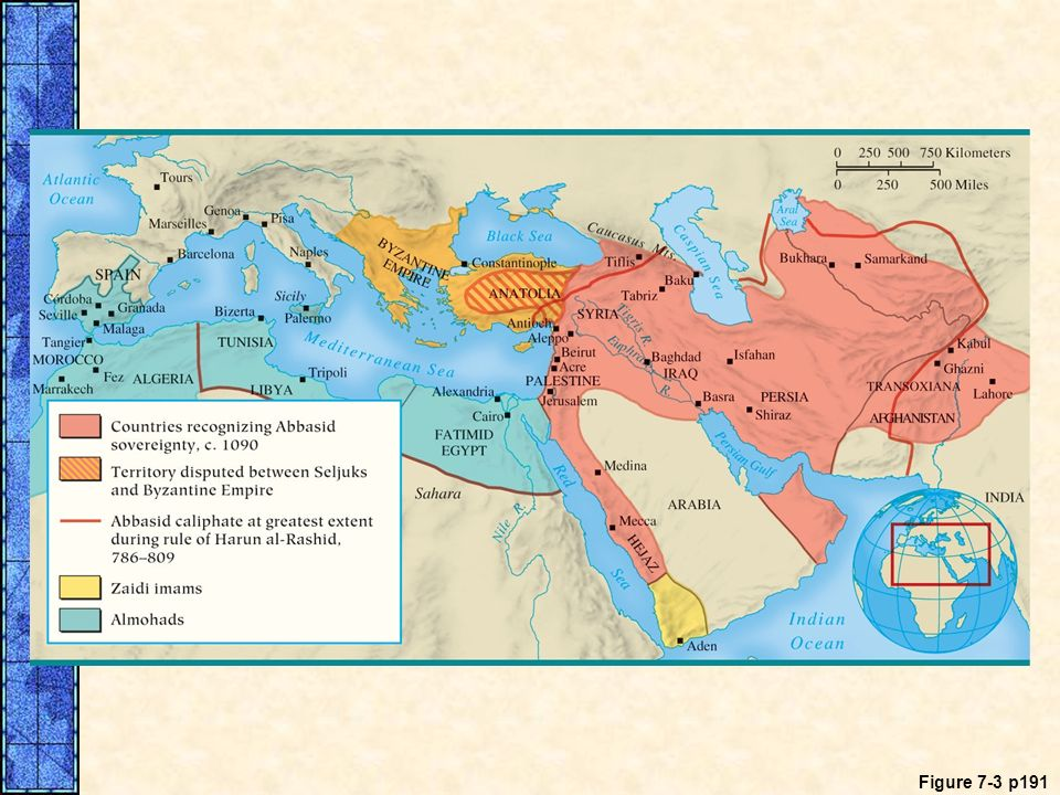 MAP 7. 3 The Abbasid Caliphate at the Height of Its Power