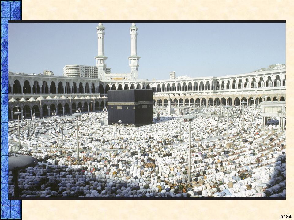 The Ka'aba in Mecca. The Ka'aba, the shrine containing a black meteorite in the Arabian city of Mecca, is the most sacred site of the Islamic faith. Wherever Muslims pray, they are instructed to face Mecca; each thus becomes a spoke of the Ka'aba, the